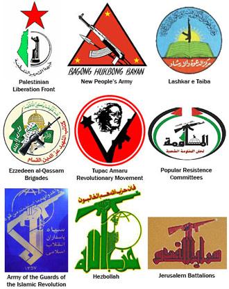 Jak vypadají loga teroristických organizací?