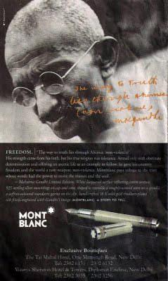 Montblanc a Mahátma Gándhí