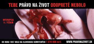 Zakázaná drsná slovenská reklama proti potratům