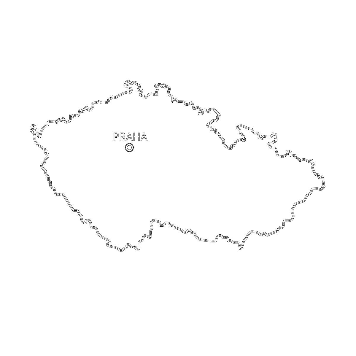 Stahnete Si Zdarma Mapu Cr V Krivkach Design Portal